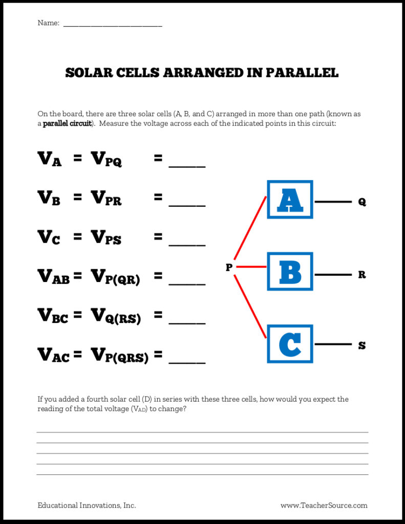 Using Solar Cells in Series and Parallel Circuits - Educational Innovations Blog